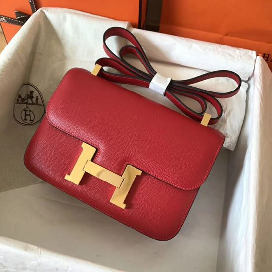 Picture of Hermes Constance 23cm Shoulder Bag Red Gold