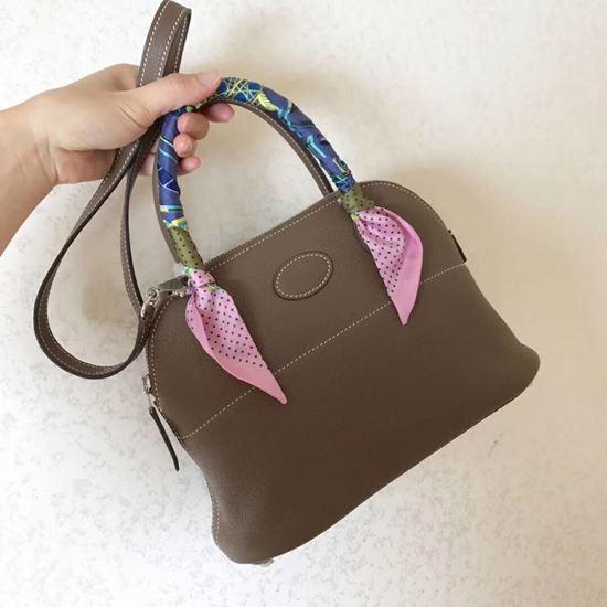 Picture of Hermes Bolide 31cm Togo leather Bag Dark Grey