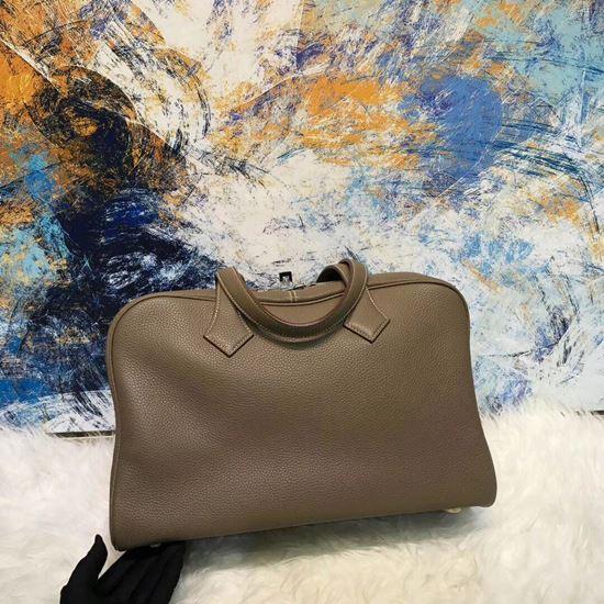 Picture of Herems Victoria 36cm Togo Tote Bag Dark Grey