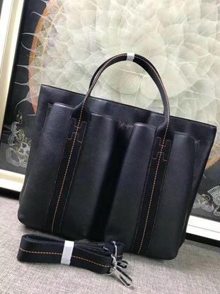 Picture of Hermes Caravane Horizontal 35CM Togo Leather Bag Black
