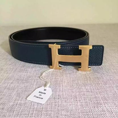 Picture of Hermes Belt 2018 New Arrive 110 Black with Gold Buckle