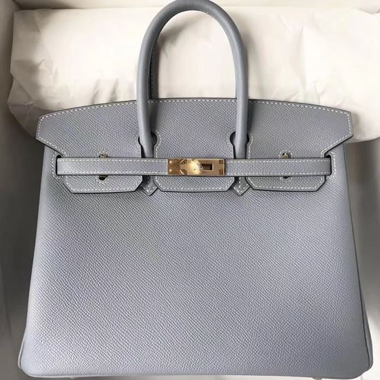 Picture of Hermes 25cm Epsom Leather Tote Signal Blue Glod