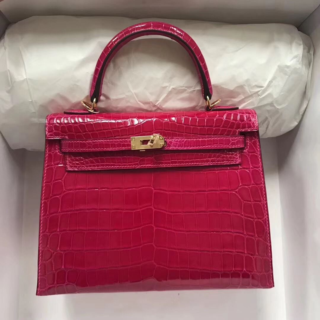 54b058fb1ad9 Picture of Hermes 28cm Crocodile leather Tote Bag Beigo Red Gold