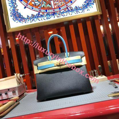 Picture of Hermes Birkin 30cm Epsom leather Tote BagBlack Gold
