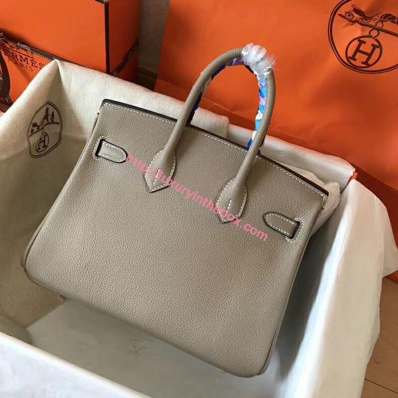 Picture of Hermes 25cm Togo Leather Tote Bag Grey gold