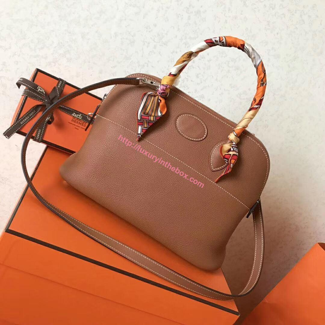 Picture of Hermes Bolide 31cm Togo leather Bag Brown