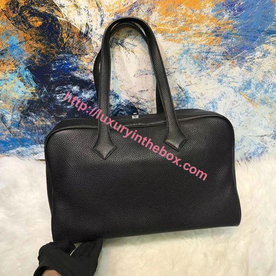 Picture of Herems Victoria 36cm Togo Tote Bag Black
