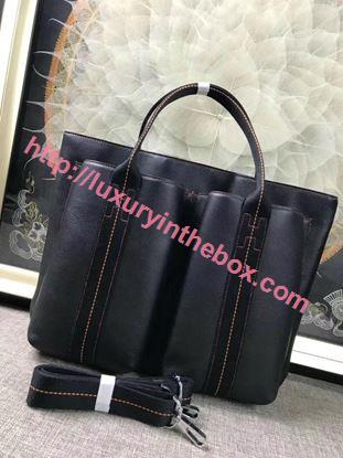 Picture of Hermes Caravane Horizontal 35CM Togo Leather Bag Black