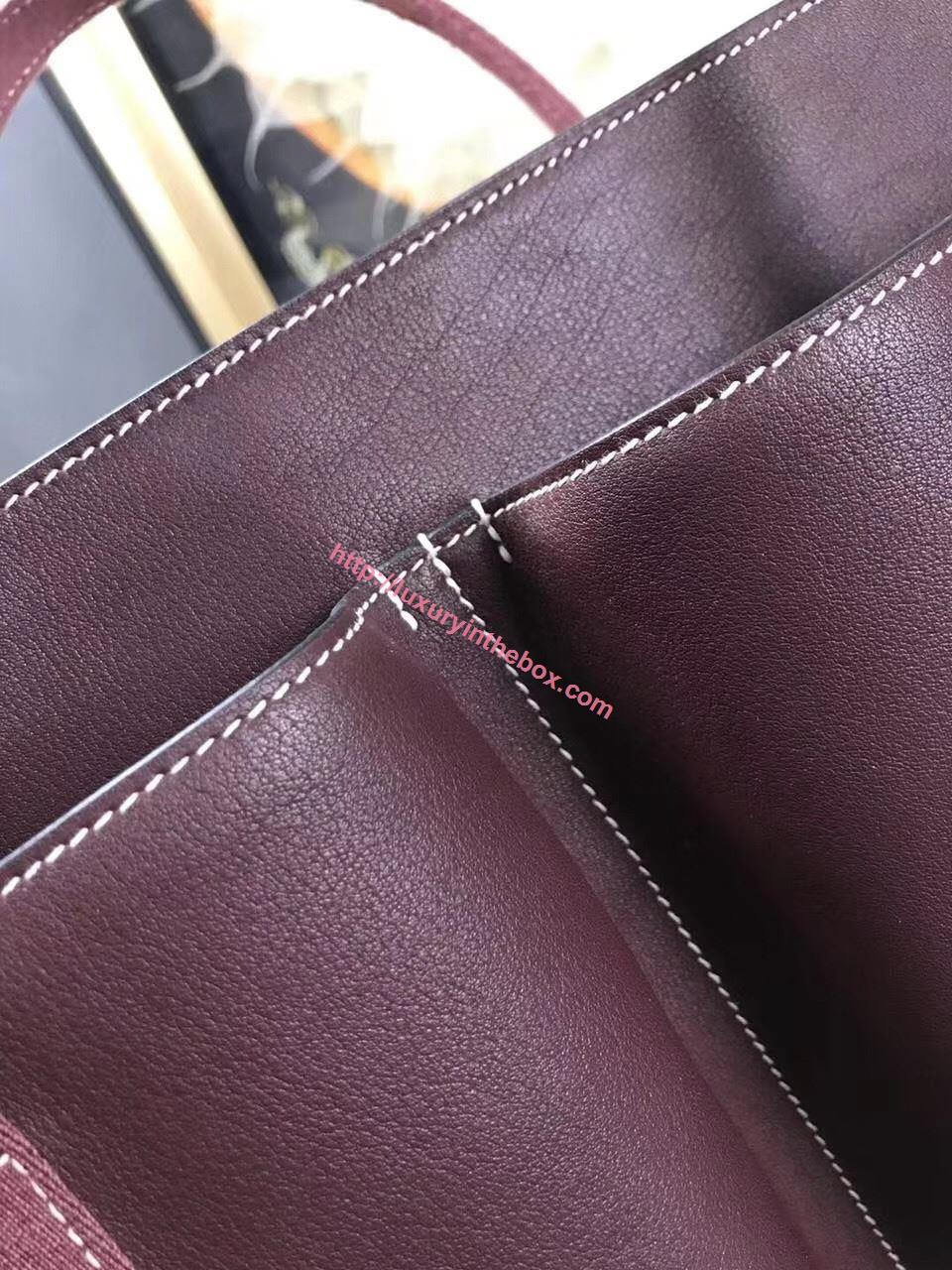 Picture of Hermes Caravane Horizontal 35CM Togo Leather Bag Mauve