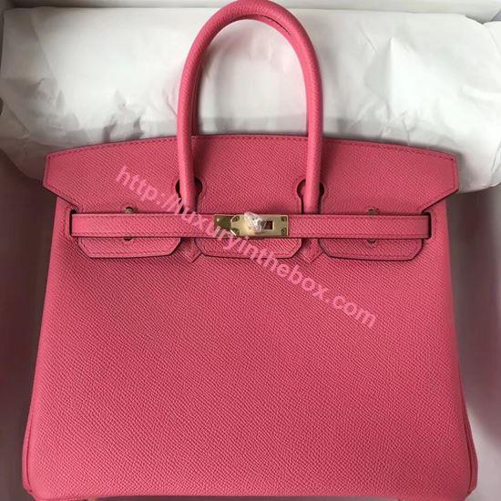 Picture of Hermes 25cm Epsom Leather Tote Bag Pink Gold