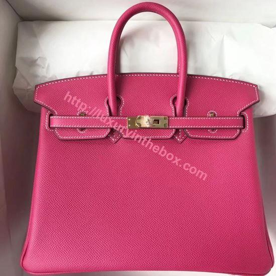 Picture of Hermes 25cm Epsom Leather Tote Carmine Red Glod