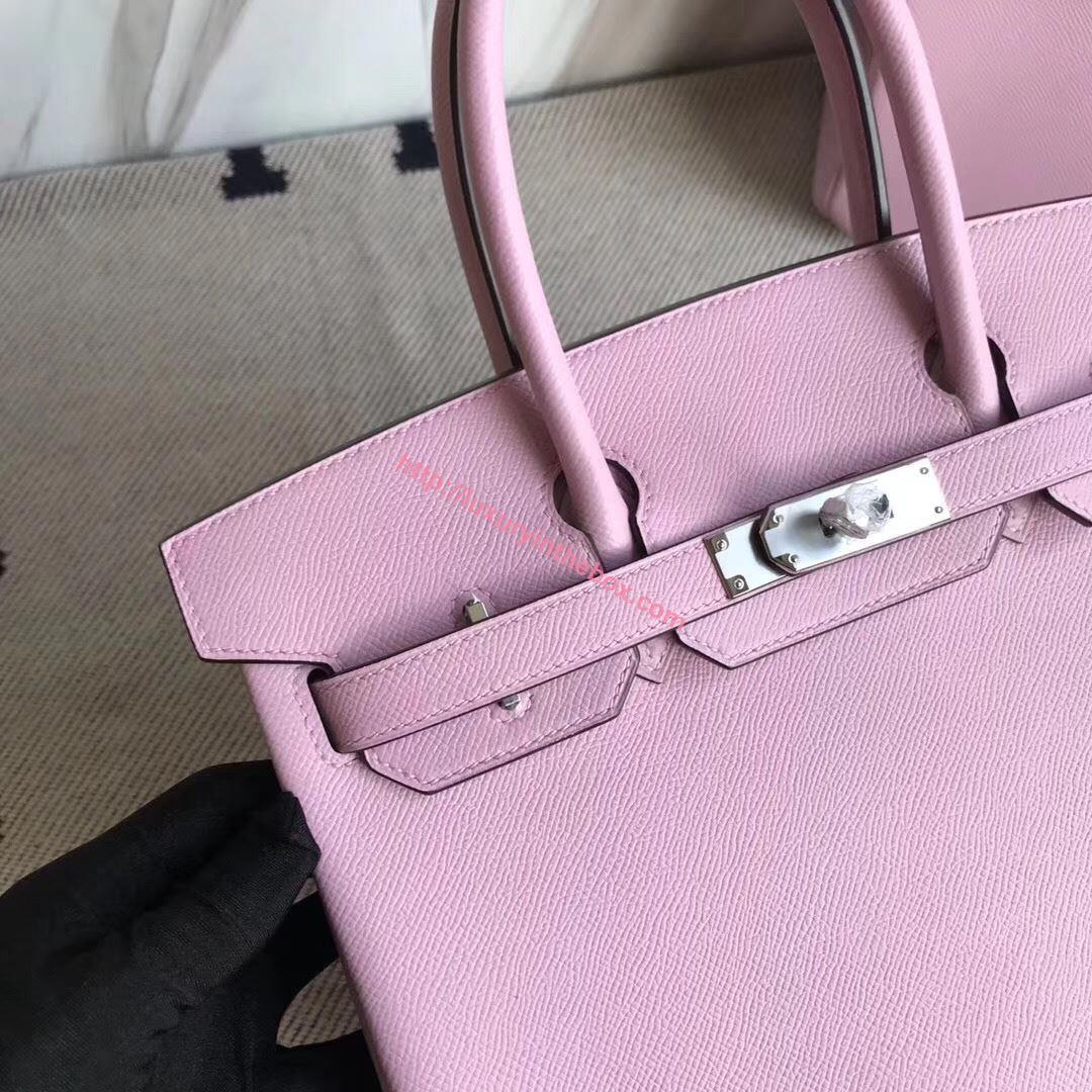 Picture of Hermes 30cm EPSOM Leather Violet with Silver
