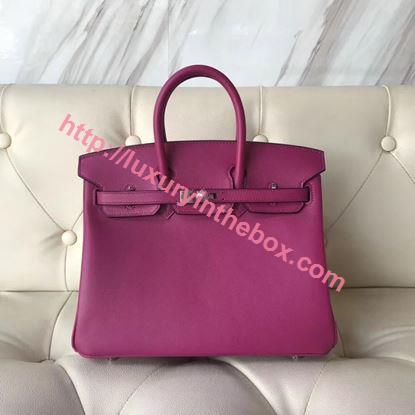 Picture of Hermes 25cm Swift Leather Pink with silver