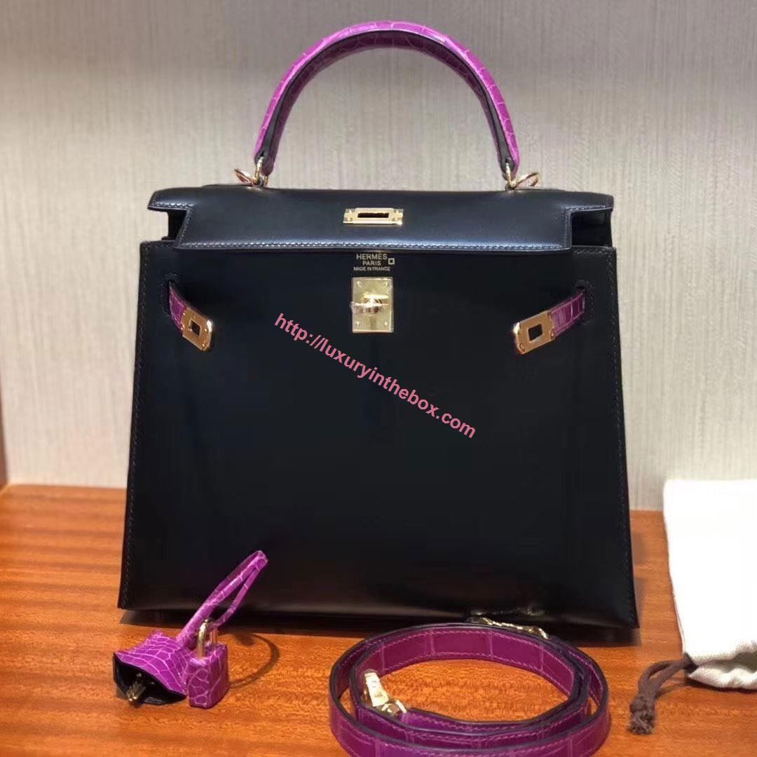 Picture of Hermes 25cm TOGO Leather Black with Gold