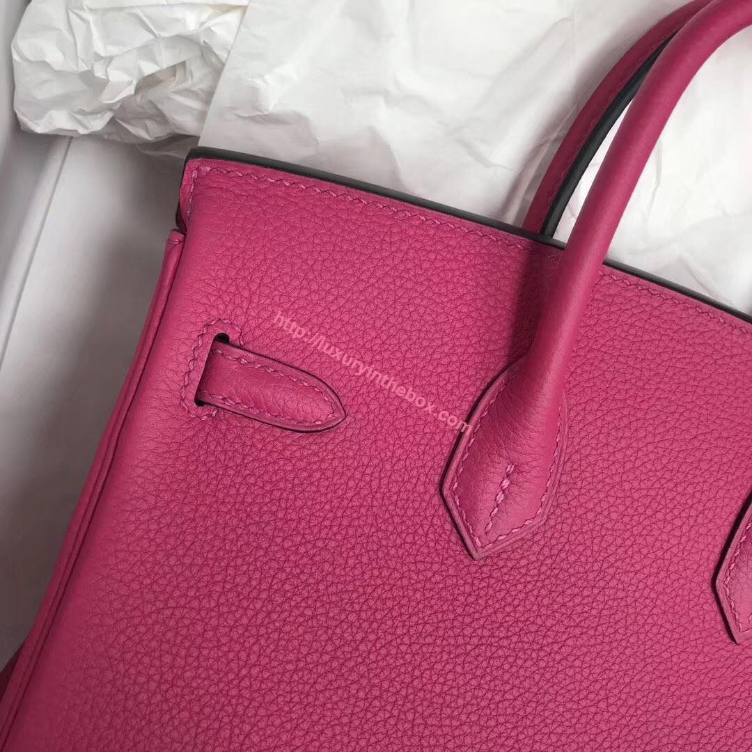 Picture of Hermes 25cm Togo Leather Rose Violet with Silver