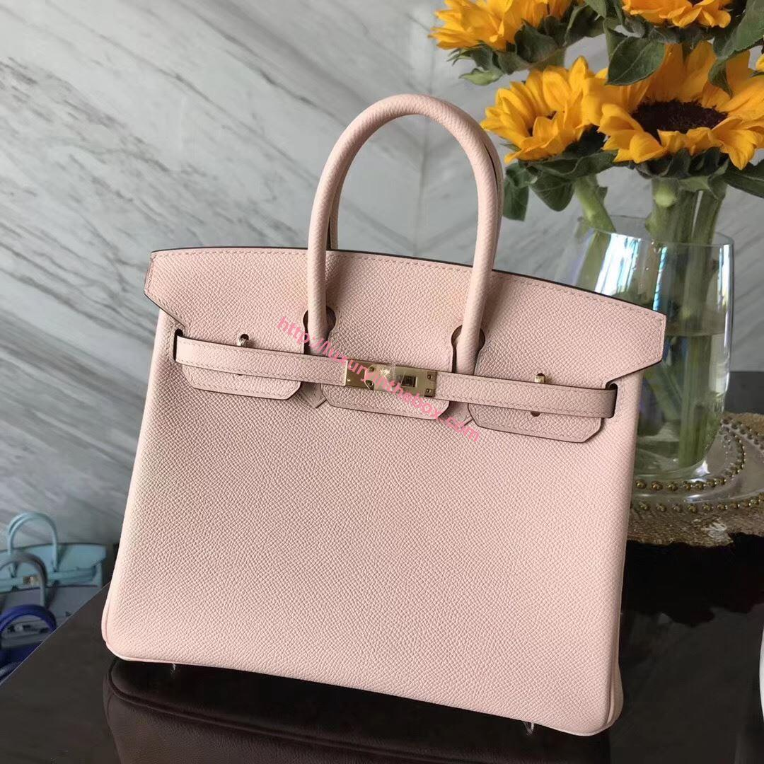 Picture of Hermes 25cm Epsom Leather Light Pink with Gold