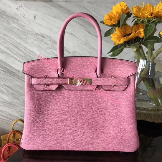 Picture of Hermes 30cm Togo Leather Turquoise Pink with Gold