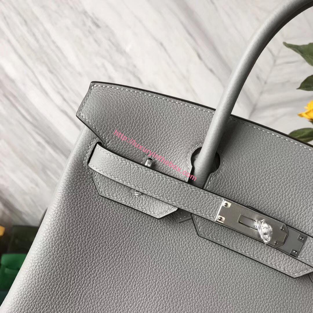 Picture of Hermes 30cm Togo Leather Grey with Silver