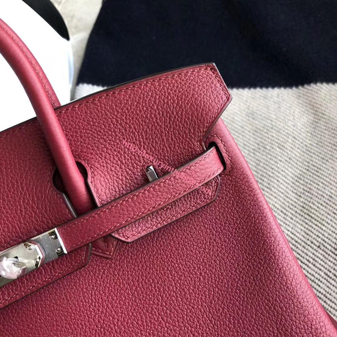 Picture of Hermes 25cm Togo Leather Carmine Red with Silver