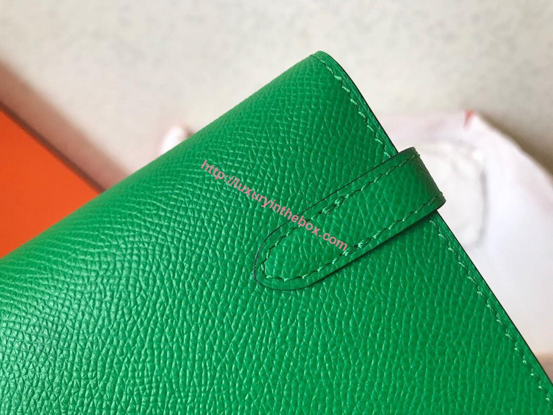 Picture of Hermes Kelly Wallet Epsom Leather Cypress Green