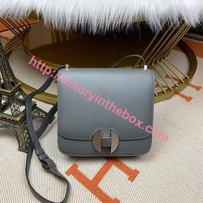 Picture of Hermes Constance 24cm Shoulder Bag Grey Gold/Silver